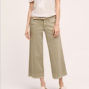 Pilcro midrise cropped wide leg chinos